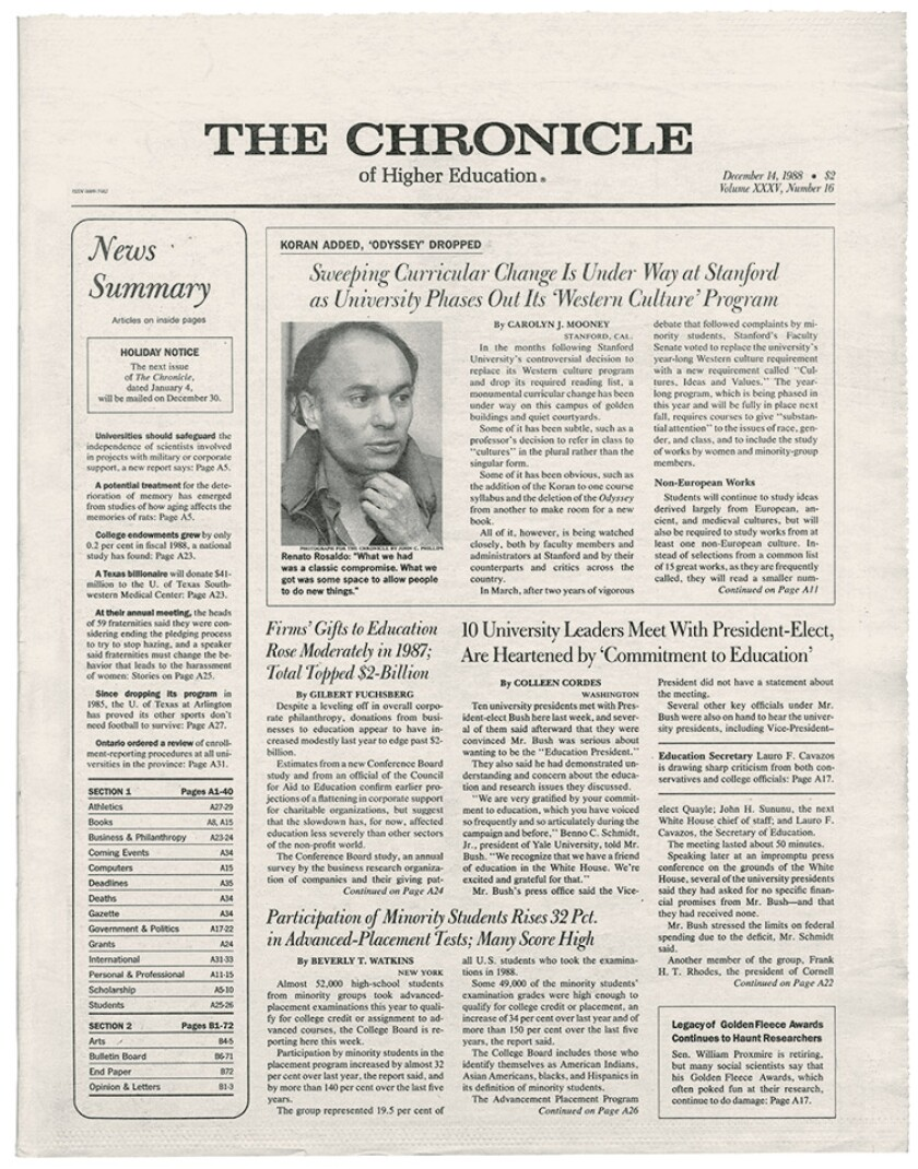 Annual Chronicle 1988 A great Gift