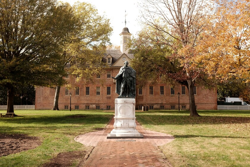 Wren Building at the College of William and Mary