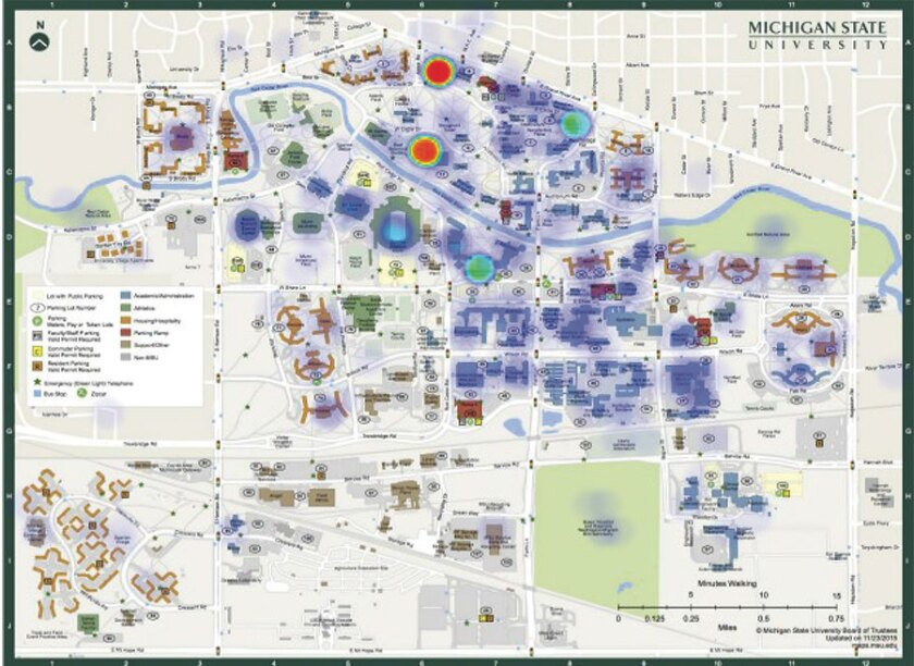 Michigan State Campus Map Heat Maps' Give Michigan State a New View of Campus Climate